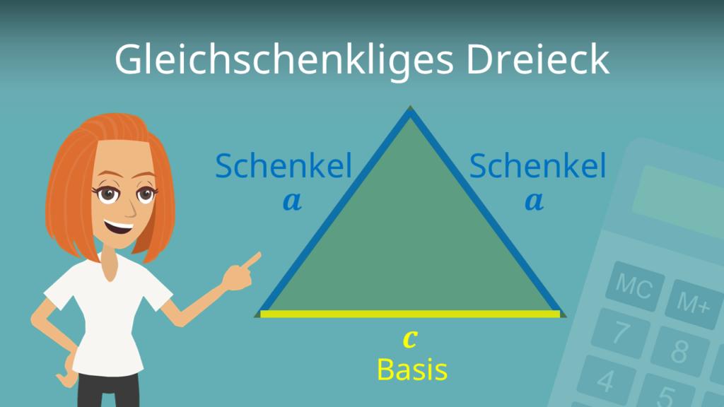 Gleichschenkliges Dreieck, Gleichschenkliges Dreieck Formel, Gleichschenkliges Dreieck Berechnen