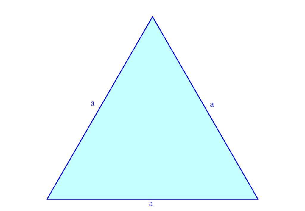 Grundfläche Pyramide, gleichseitiges Dreieck