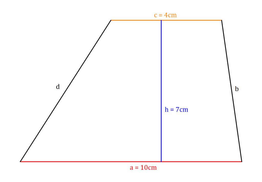 Flächeninhalt Trapez, Trapez Flächeninhalt, Trapezfläche Aufgabe