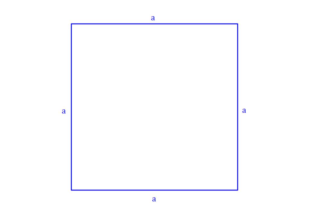 Umfang Quadrat, Quadrat