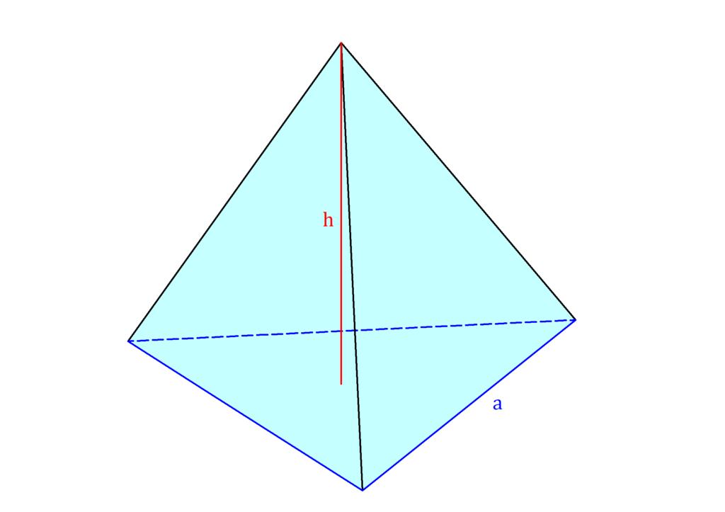 Volumen dreiseitige Pyramide, dreiseitige Pyramide, Dreieckspyramide