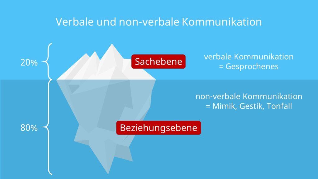 Eisbergmodell, Beziehungsebene, Sachebene, Mimik, Gestik, Tonfall, Gesprochenes