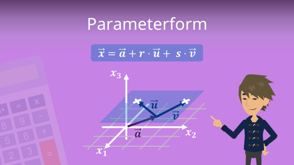 Parameterform, Parameterform Gerade, Parameterform Ebene