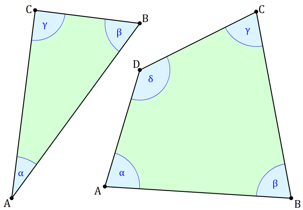 Winkel berechnen, Winkelberechnung, Winkel Dreieck, Winkel Viereck, Innenwinkel Dreieck, Innenwinkel Viereck, Innenwinkelsumme