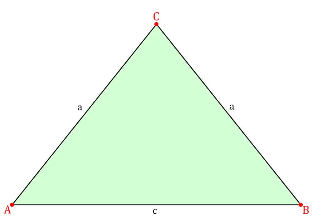 Gleichschenkliges Dreieck, Geometrie gleichschenkliges Dreieck, Dreieck gleichschenklig