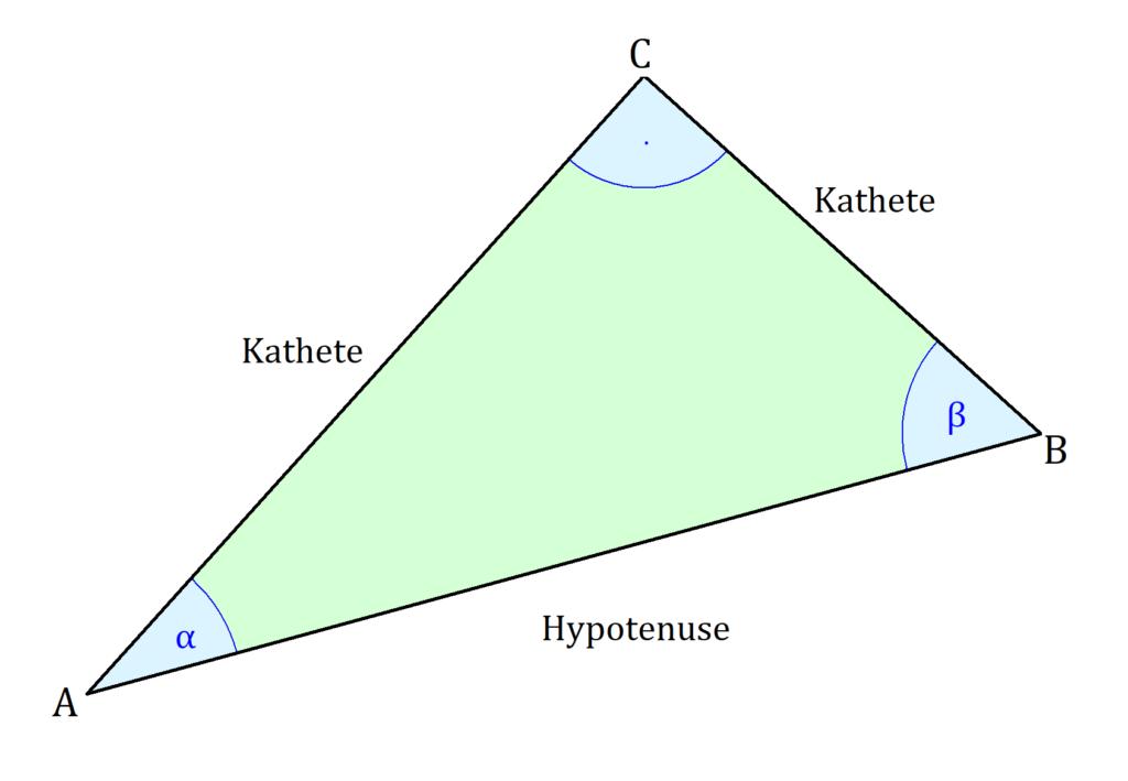 Winkel Dreieck bestimmen, Rechtwinkliges Dreieck Winkel berechnen, Winkel berechnen rechtwinkliges Dreieck, Winkelberechnung Dreieck