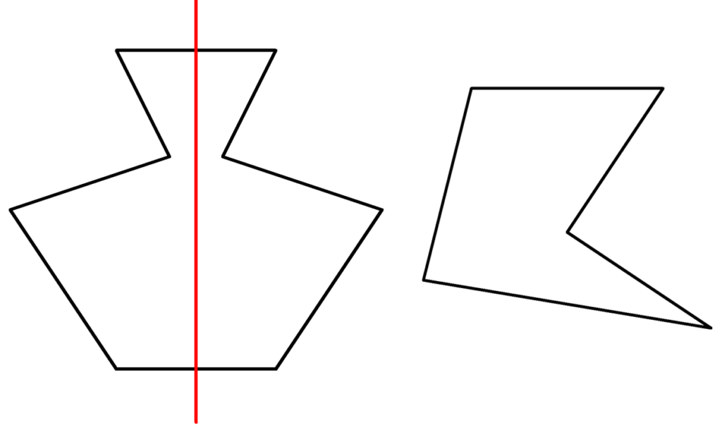 Figur, Symmetrie, symmetrisch, unsymmetrisch, Symmetrieachsen