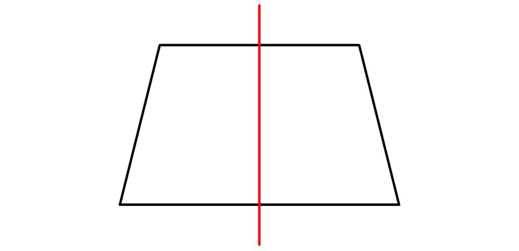 Trapez, symmetrisch, Achse, gleichschenklig, Symmetrieachsen