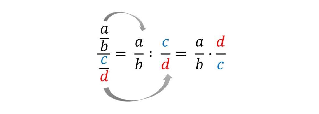 Doppelbruch, Doppelbrüche lösen, Doppelbruch berechnen