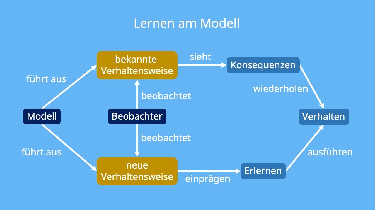 Modelllernen, Modell, Vorbild, Beobachter, Beobachten, Bandura