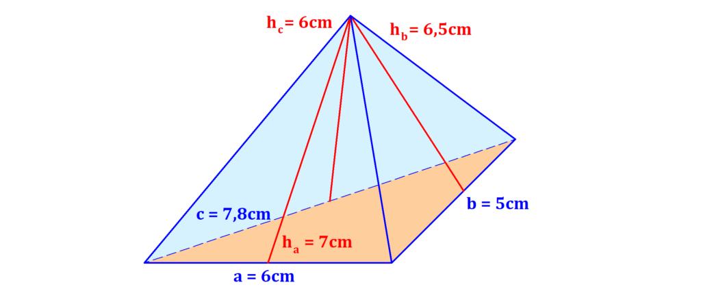 Pyramide, Dreieck, Seiten, Länge, Höhe