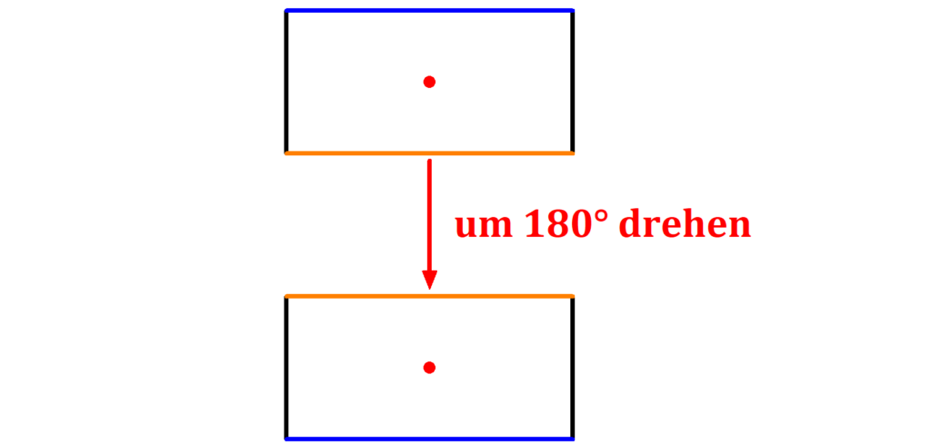 Rechteck, Punkt, Seite, Drehen, Punktsymmetrie