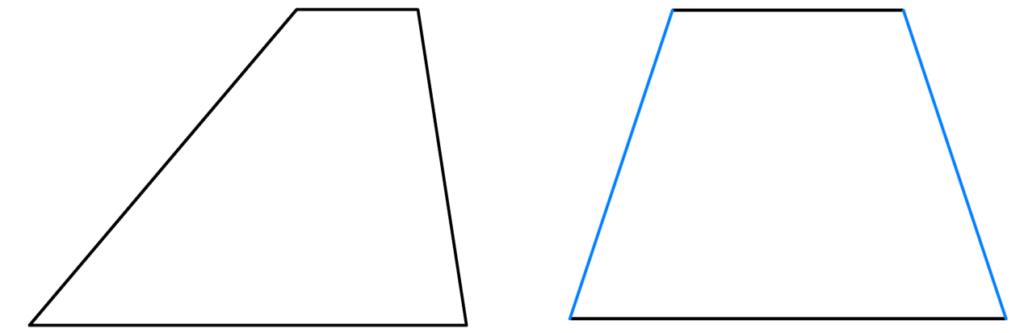 allgemeines Trapez, gleichschenkliges Trapez, Seiten, Parallel, Vierecke, Haus der Vierecke