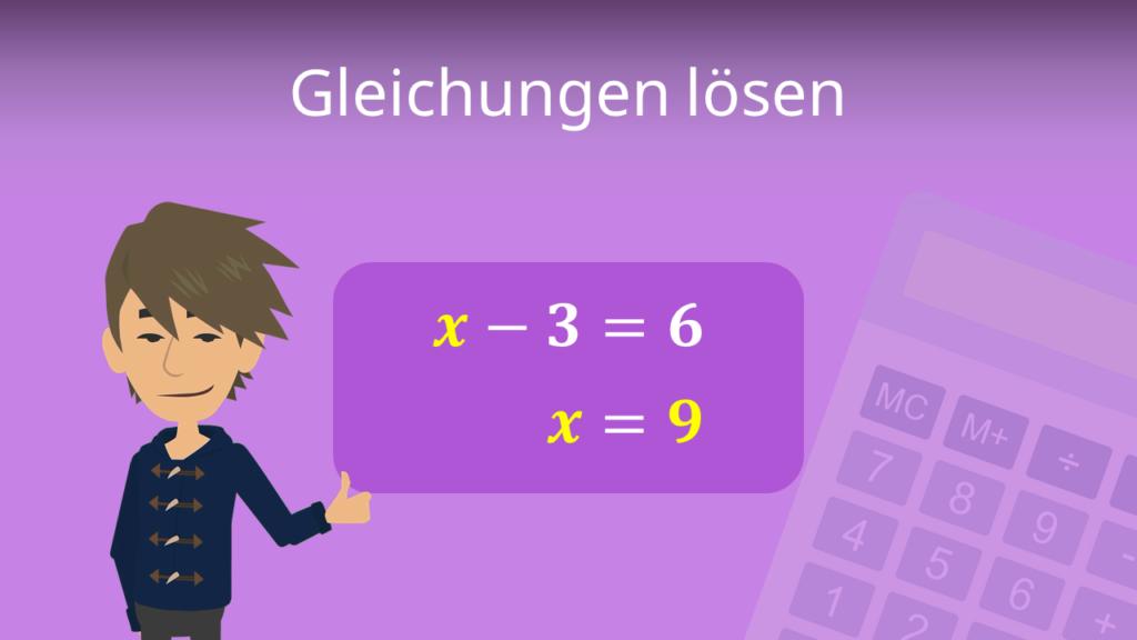 Zum Video: Gleichungen lösen