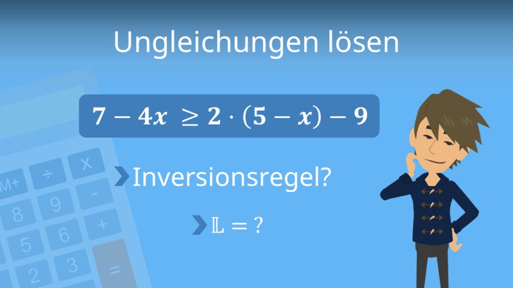 Zum Video: Ungleichungen lösen