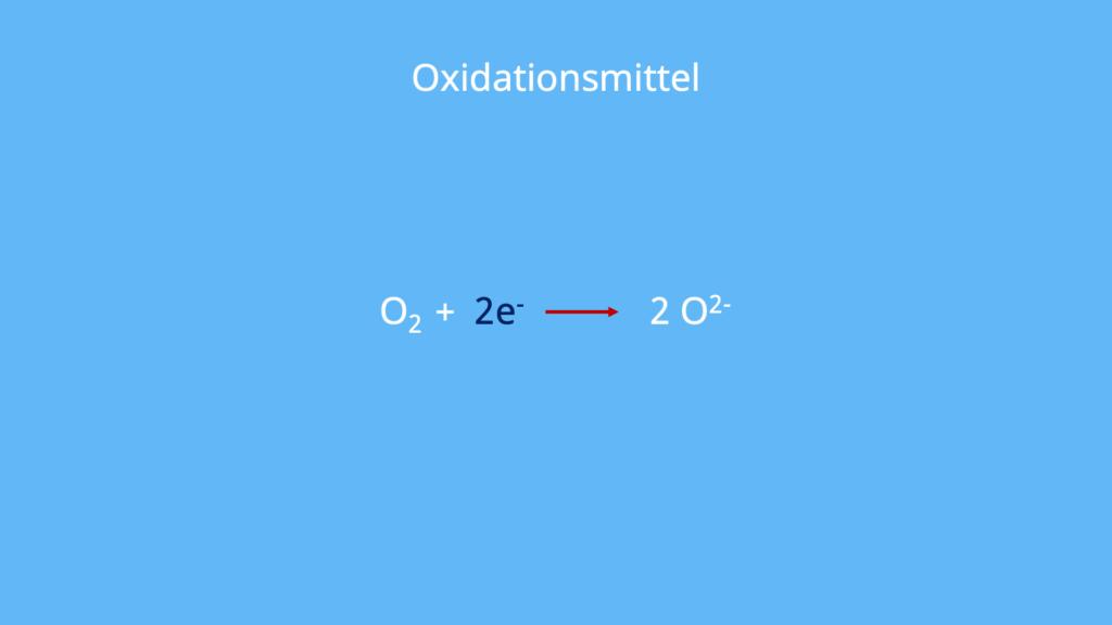 zu oxidierender Stoff, Oxidationsmittel, Oxidans, Oxidator, Oxidationsmittel Beispiele, oxidierend