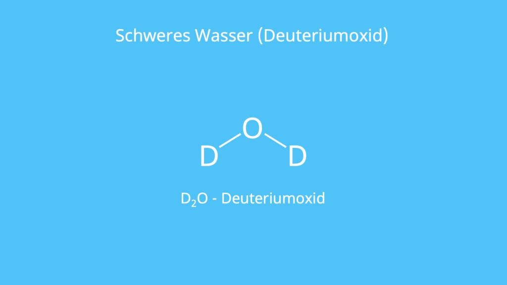 Wasser Formel, Wasserstoff Isotope, schwerem, deuterium oxide, heavy water