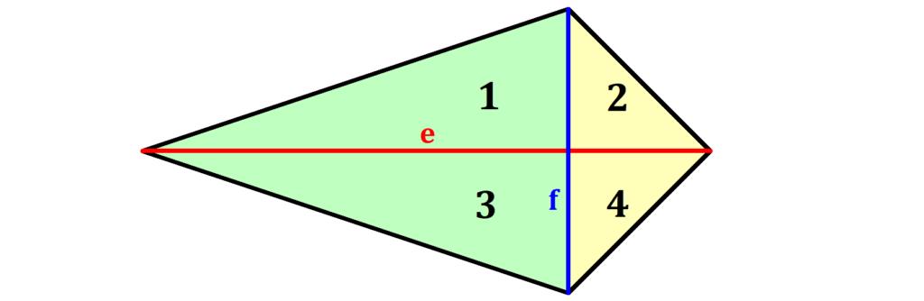 Drachenviereck Flächeninhalt Herleitung