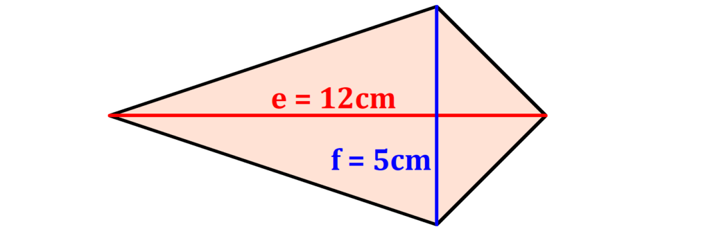Flächeninhalt Drachenviereck berechnen, Flächeninhalt Drachenviereck, Drachenviereck Flächeninhalt. Flächeninhalt Drachen, Drachen Flächeninhalt