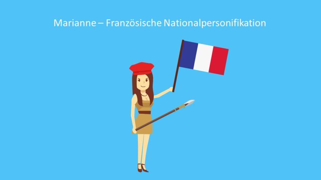 Marianne - Französische Nationalpersonifikation, Allegorie Beispiel, Allegorie Bedeutung, Allegorese, Frauenfigur als Sinnbild, Verbildlichung