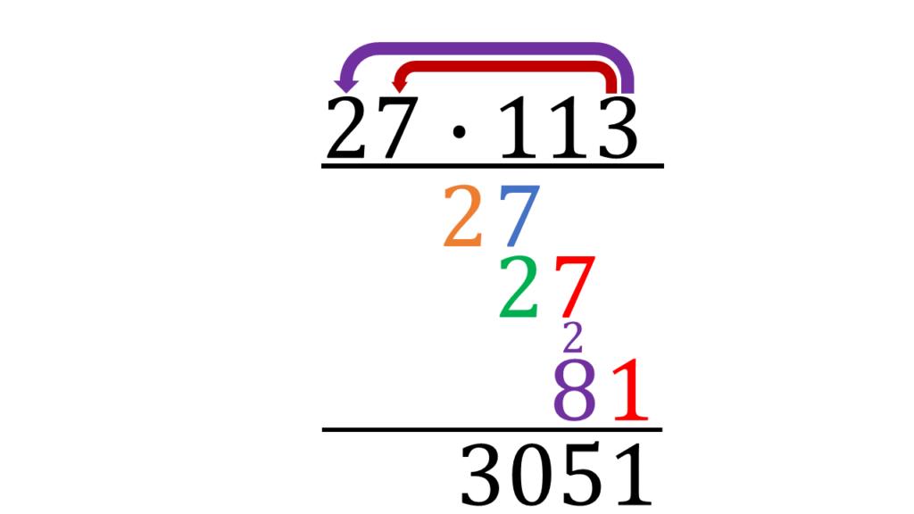 Schriftlich multiplizieren, schriftliche Multiplikation, mal rechnen, Schriftlich mal rechnen