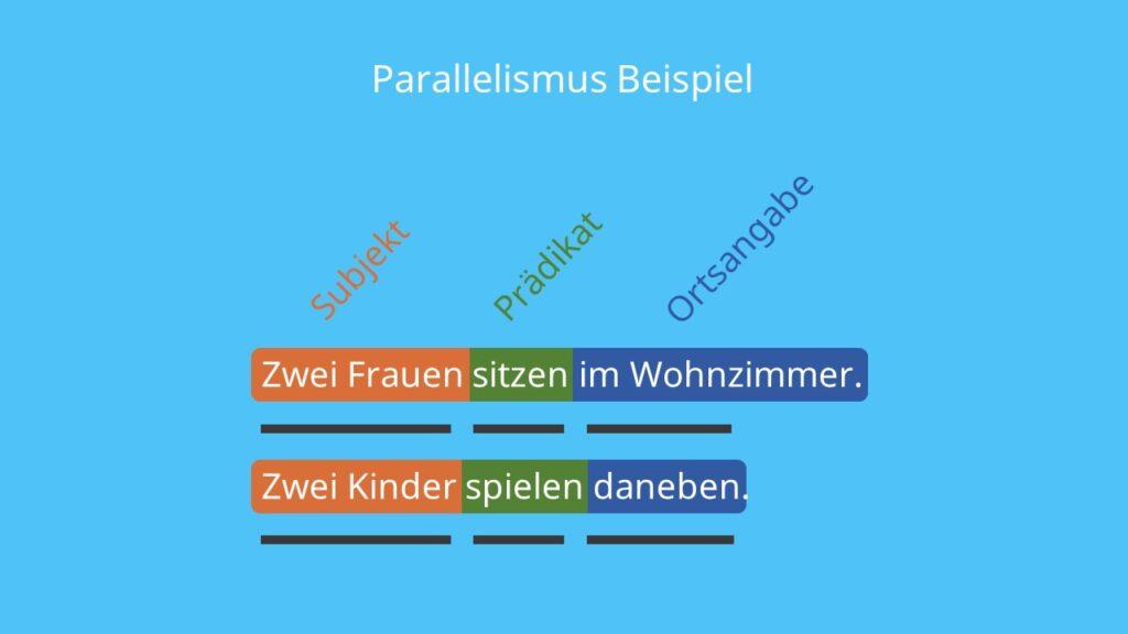 Stilmittel Wiederholung, Parallelismus Stilmittel, Parallelismus Beispiel