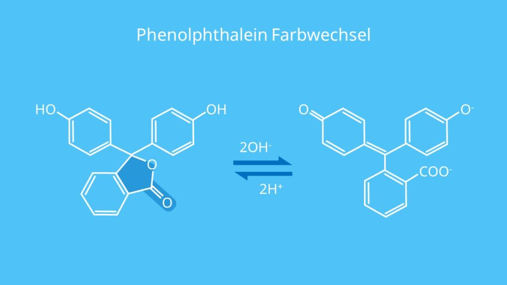 Phenolphthalein Farbwechsel, Phenolphthalein Indikator, Was ist Phenolphthalein, Phenolphthalein Färbung