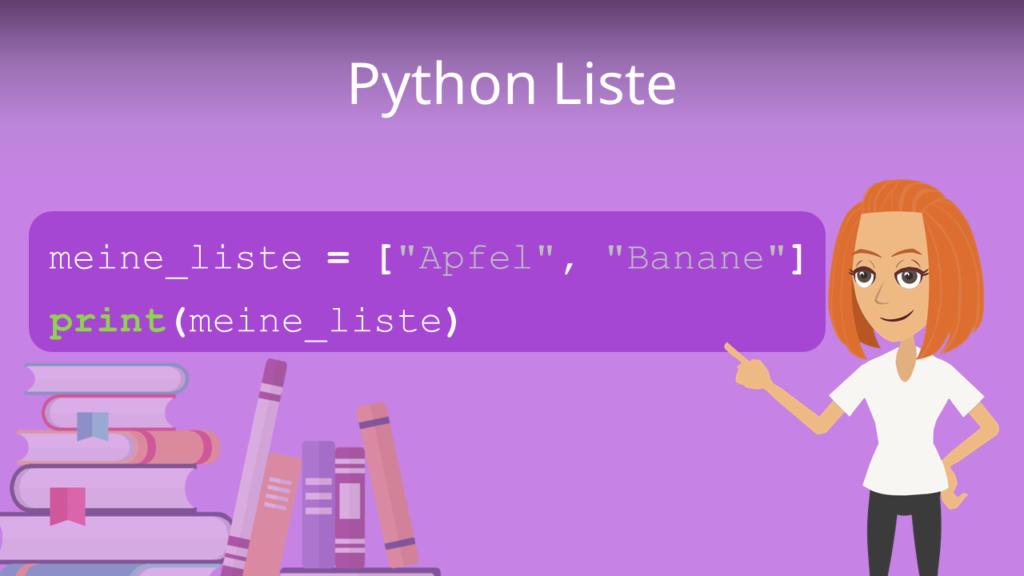 Zum Video: Python Liste