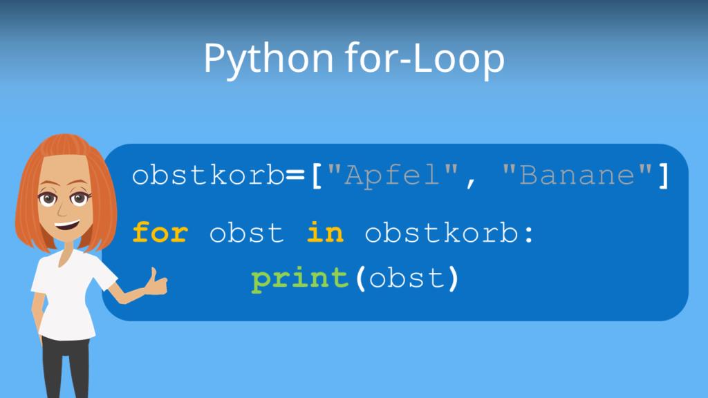 Zum Video: Python for-Loop