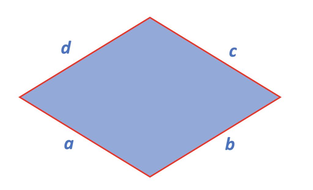 Raute, Rhombus, Raute Eigenschaften, Eigenschaften Raute, Rhomben, Definition Raute, Paralelogramm, Rautenmuster, Rhomboid, Vierecke Eigenschaften, Was ist eine Raute, Seiten, a, b, c, d