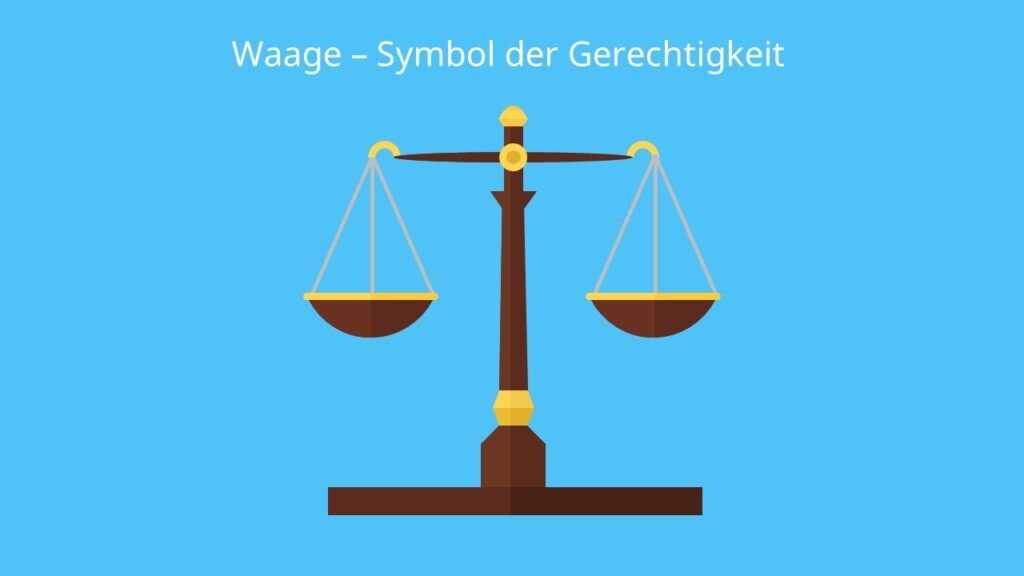 Waage Symbol; bildliches Symbol, Zeichen Bedeutung