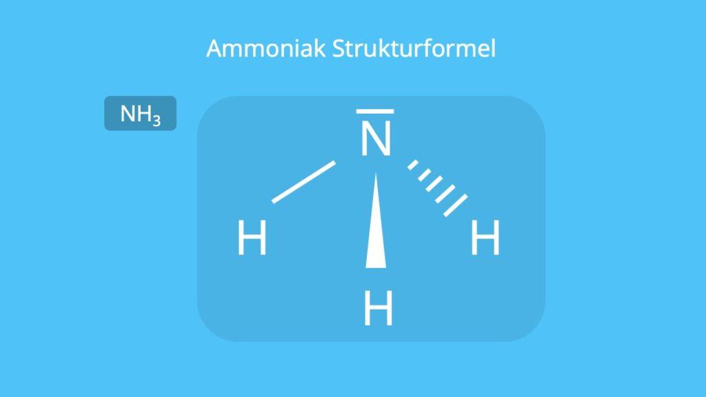 Ammoniak Formel, NH3, Ammoniakgas, Ammoniakmolekül, NH3 Lewis Formel