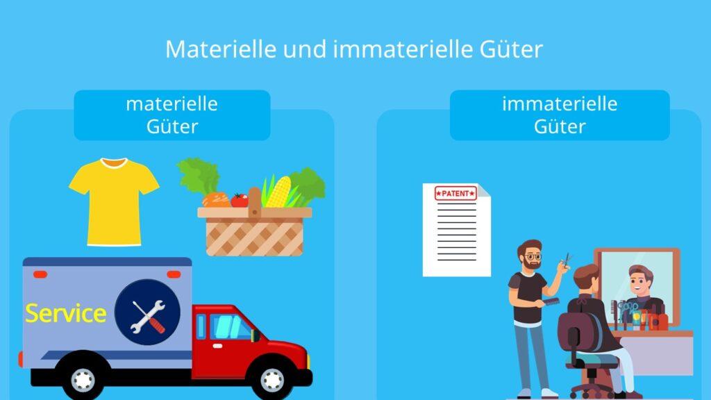 Güterarten, materielle Güter, immaterielle Güter