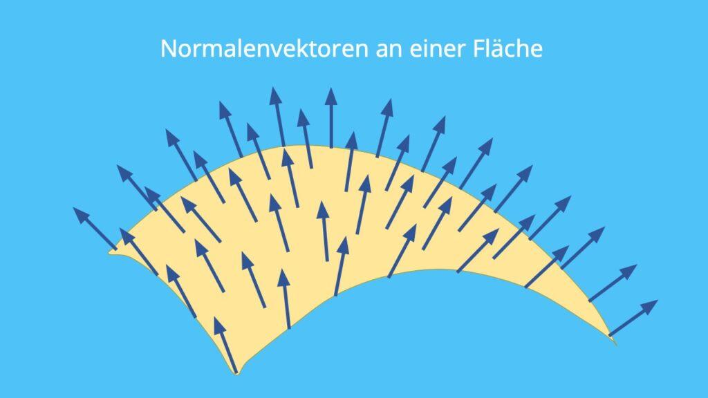 Normalenvektor, Vektor Fläche, Flächenvektor