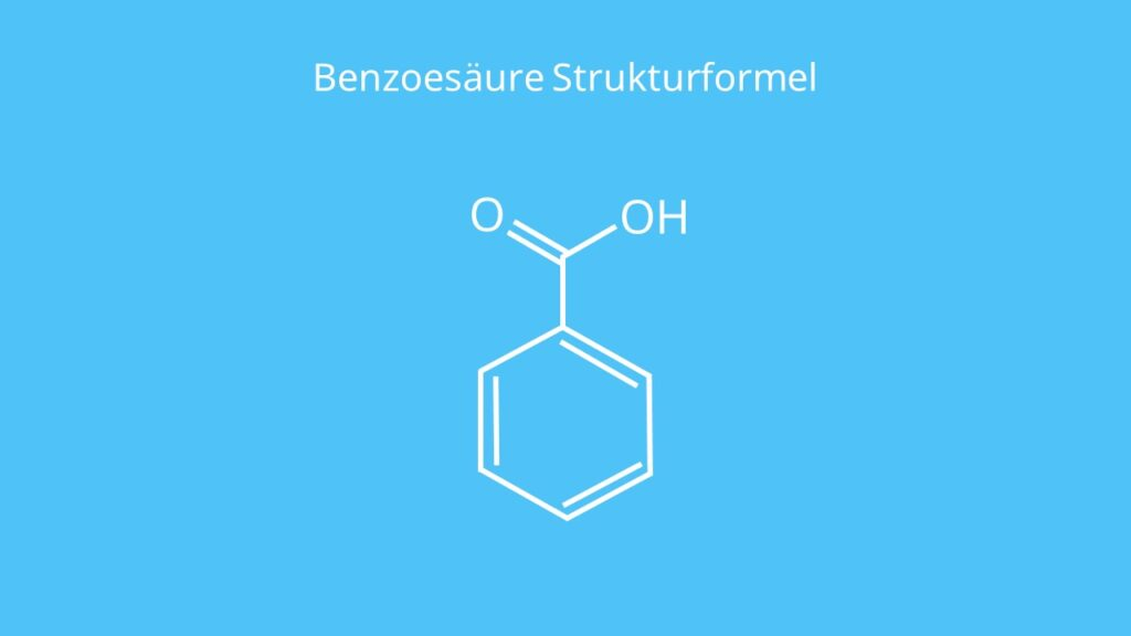 Benzoesäure Strukturformel, Was ist Benzoesäure, Benzolcarbonsäure, C6H5COOH, benzoic acid