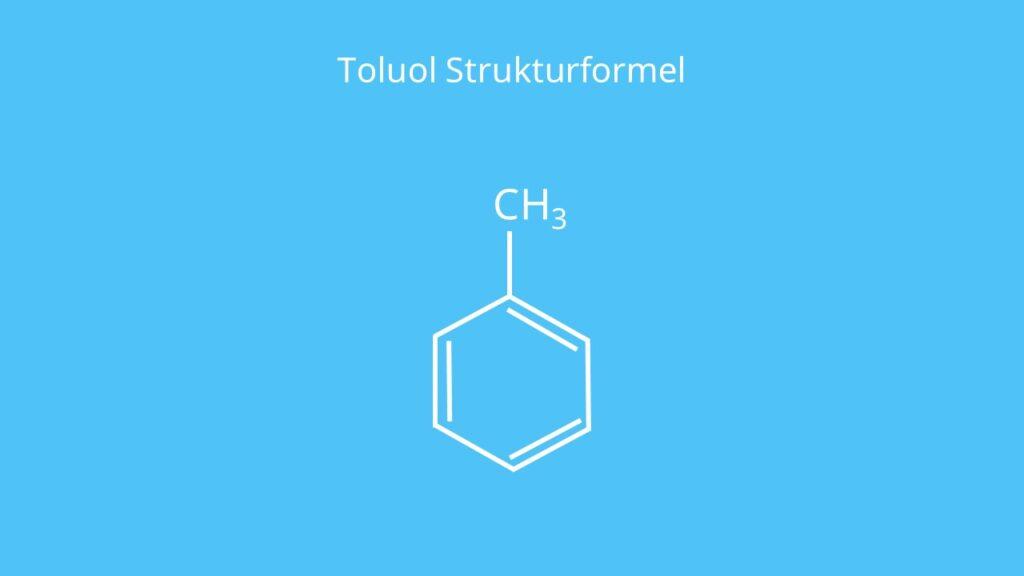 Toluol Strukturformel, Toluene, Methylbenzol, Methylbenzen, Aromat, C6H5CH3