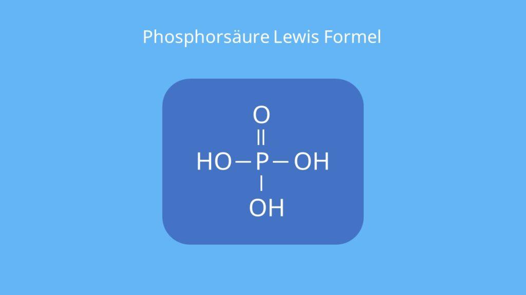 Orthophosphorsäure, phosphoric acid, Strukturformel Phosphorsäure, H3PO4, ortho Phosphorsäure
