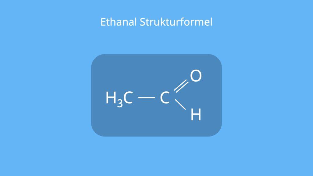 Acetaldehyd, Ethanal Formel, CH3CHO, C2H4O, Aldehyd