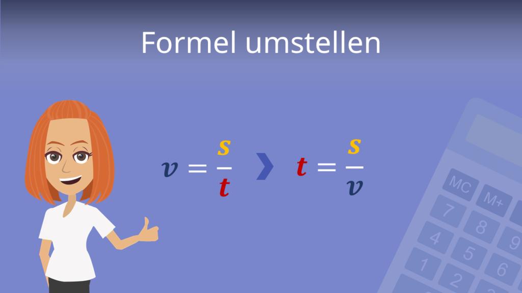 Zum Video: Formel umstellen
