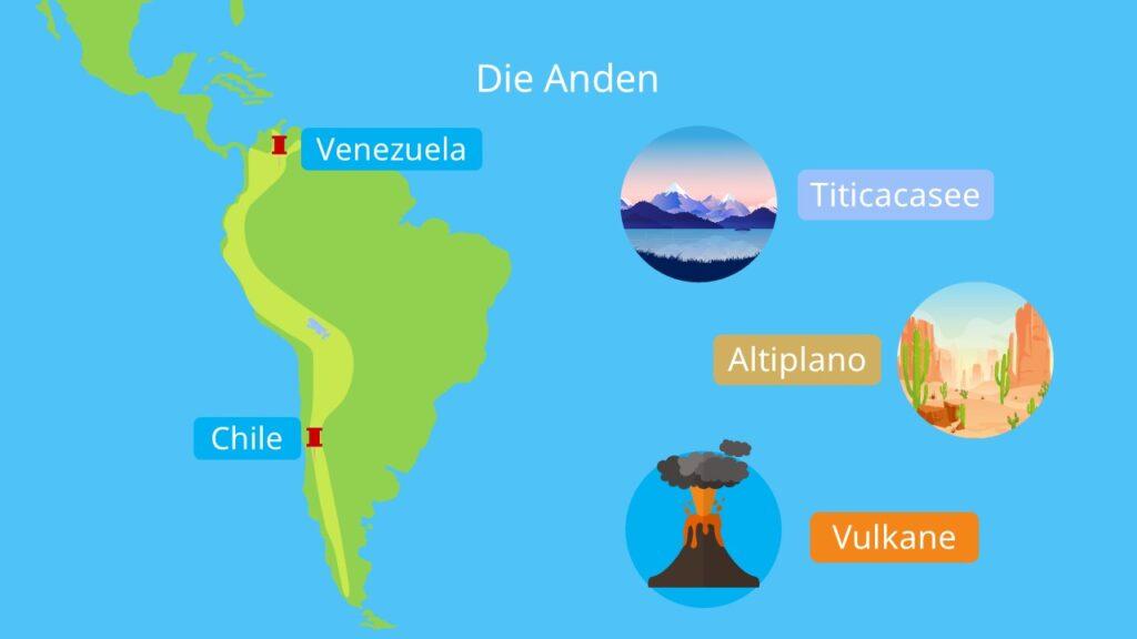 faltengebirge, längstes gebirge der Erde, anden berge, kordilleren, andes, hochgebirge in südamerika gebirge in südamerika, wo liegen die anden