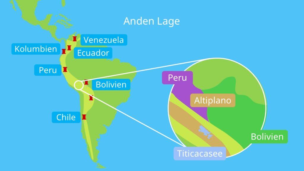 faltengebirge, längstes gebirge der Erde, anden berge, kordilleren, andes, hochgebirge in südamerika gebirge in südamerika, wo liegen die anden, Anden karte