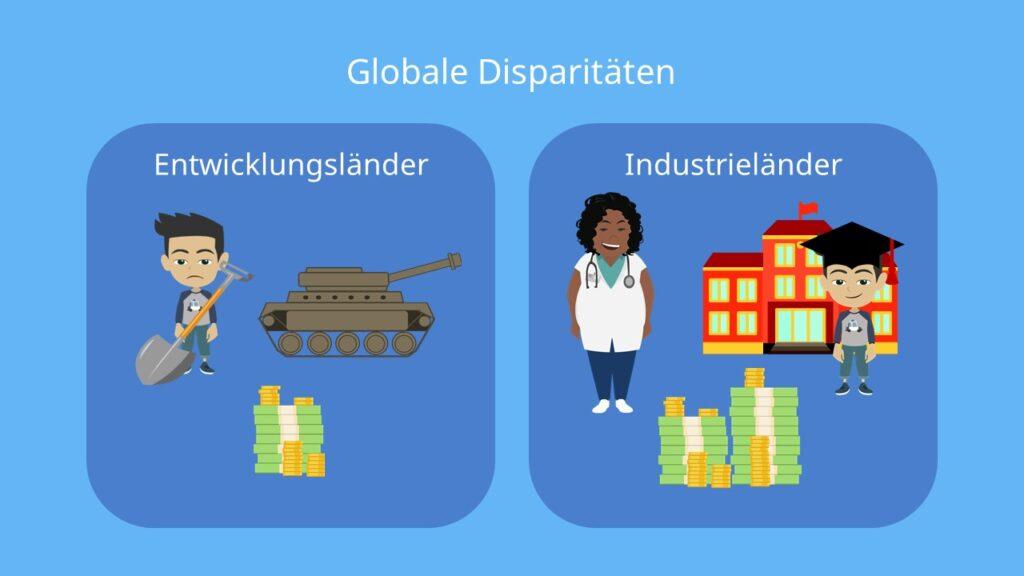 räumliche disparitäten, disparität, globale disparitäten, gloable disparitäten erdkunde