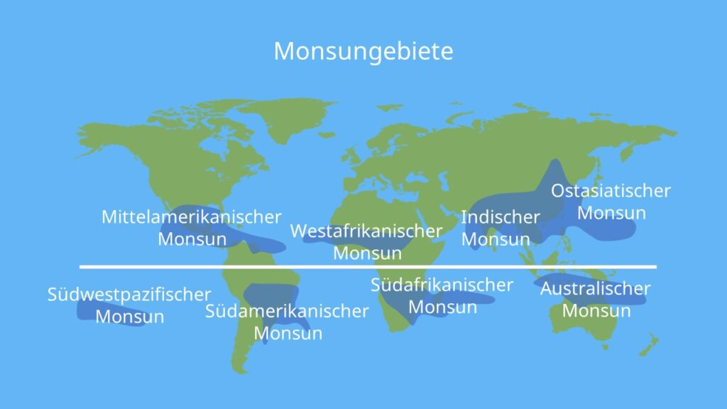 Monsun, indischer Monsun, Monsun Indien, Monsunzirkulation, Südwestmonsun