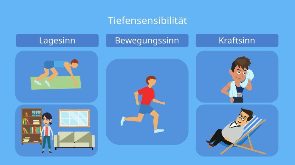 tiefensensibilität testen, tiefensensibilität übungen, propriozeption, tiefensensibilität fördern, sechtser sinn, lagesinn, stellungssinn, kraftsinn, widerstandssinn, bewegungssinn