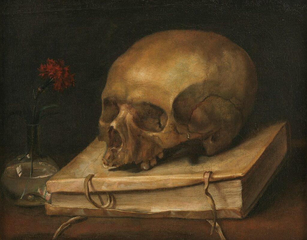 barock, epoche barock, barock epoche, vanitas, vergänglichkeit, memento mori, carpe diem, Totenkopf, stillleben, tod