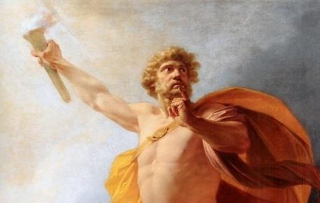 prometheus, sturm und drang, goethe, johann wolfgang von goethe, sage, mythos, griechisch, titanen, götter, olymp, feuer, griechische sage, griechische mythologie, mythologie