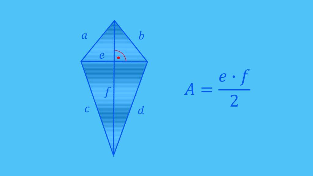 Flächenberechnung Drachenviereck Formel, Fläche berechnen