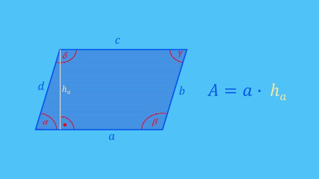 Flächenberechnung Parallelogramm Formel, Fläche berechnen
