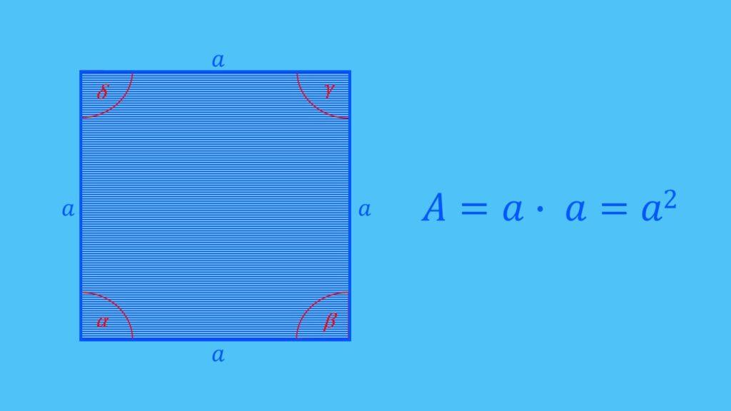 Flächeninhalt Quadrat berechnen, Flächenberechnung Formel