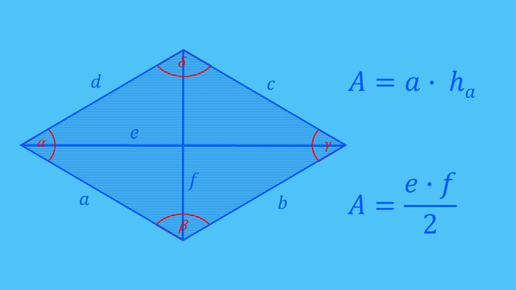 Flächenberechnung Raute Formel, Fläche berechnen